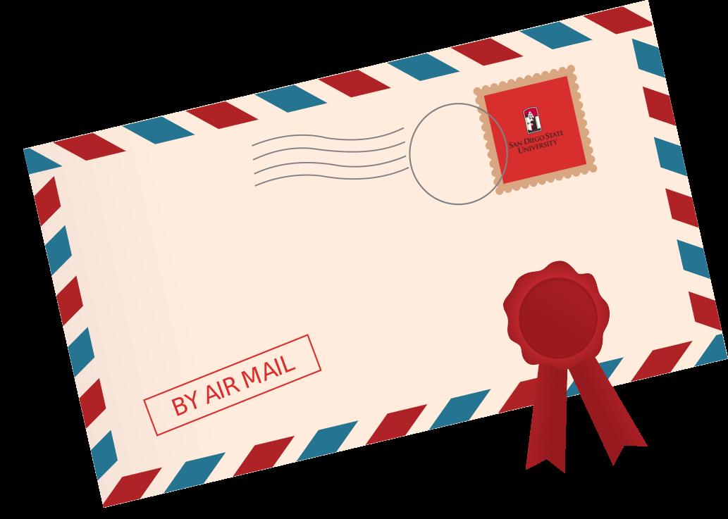 envelope clipart air mail