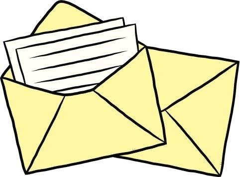 Envelope clipart application letter. Letters sent home grange