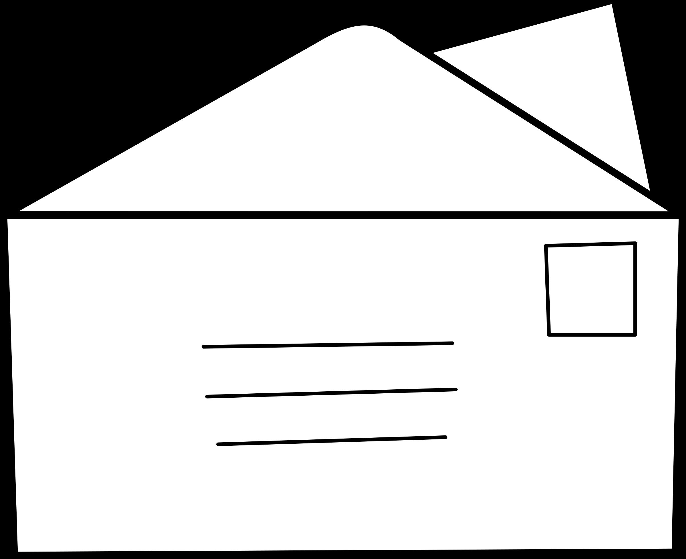 Envelope clipart application letter. Lettre big image png