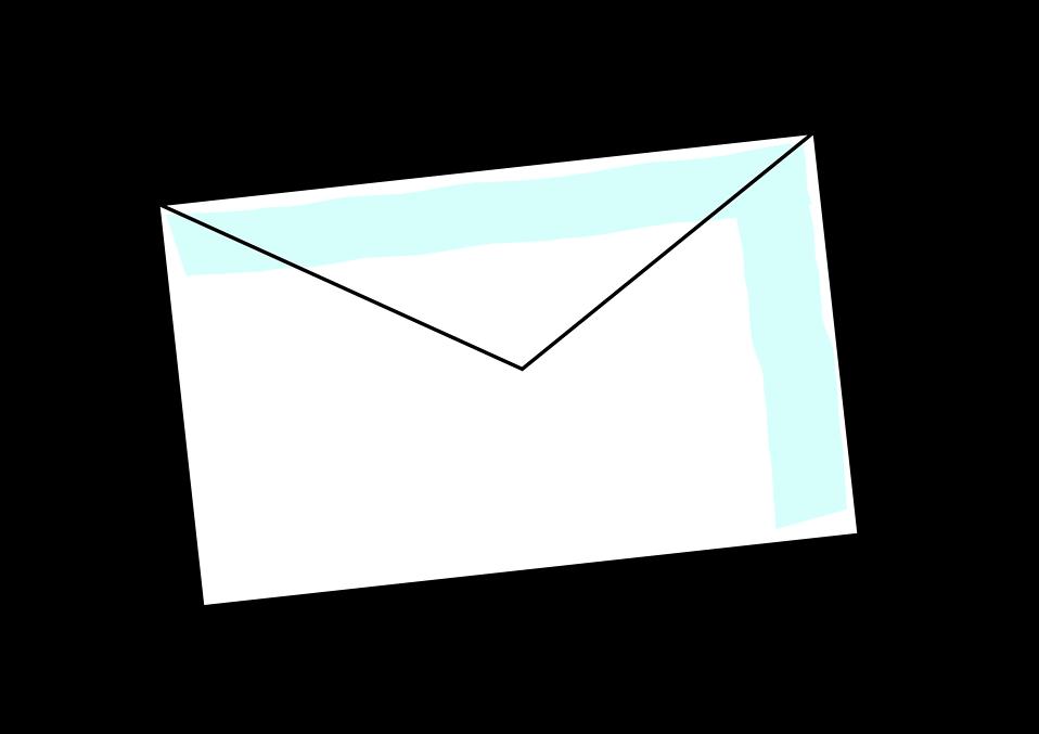 Envelope clipart back envelope. Free stock photo illustration