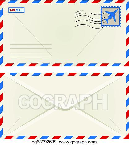 Vector front and of. Envelope clipart back envelope