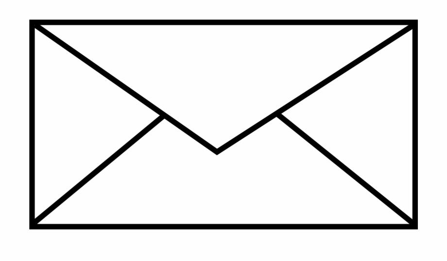 Mail clipart opened envelope. Big image png black