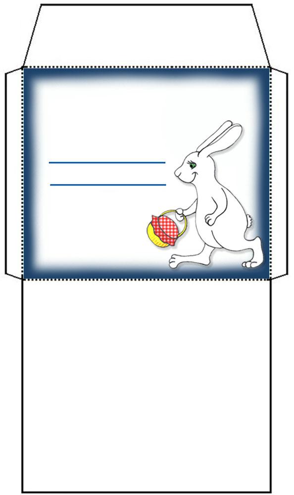 Envelope clipart blank envelope. Easter bunny rooftop post