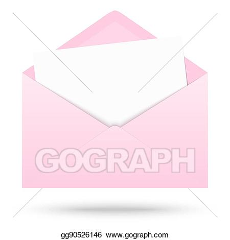 Envelope clipart colored envelope. Vector art with empty