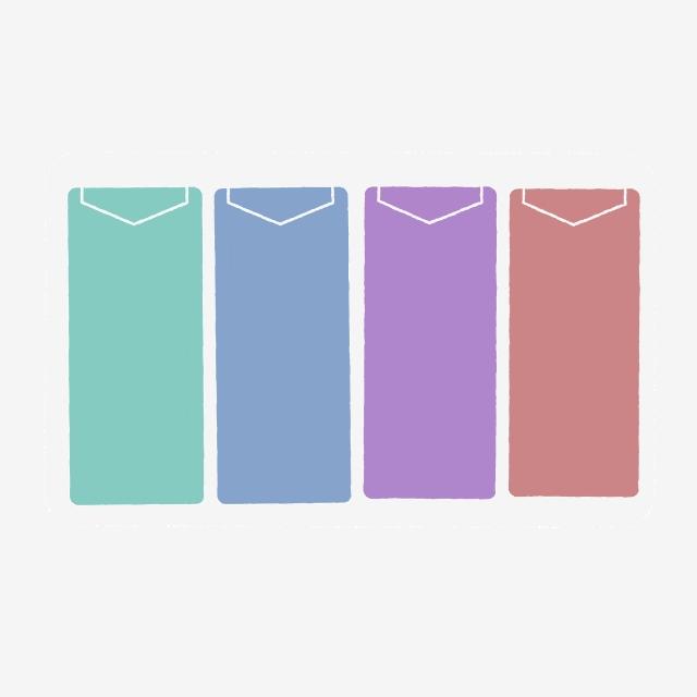 Color classification logo style. Envelope clipart colored envelope