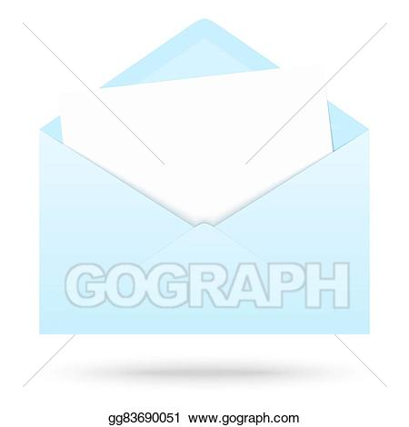 Vector art with empty. Envelope clipart colored envelope