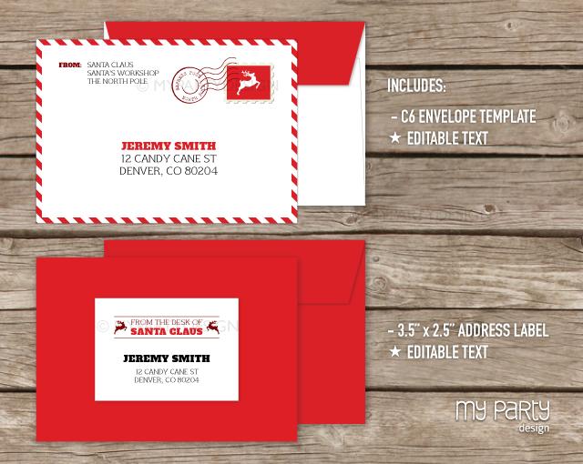 Envelope clipart envelope design. Printable letter from santa