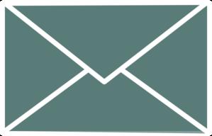 Envelope clipart envelope outline. White clip art at