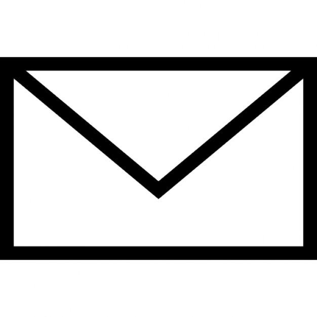 Envelope clipart envelope outline. Black and white free