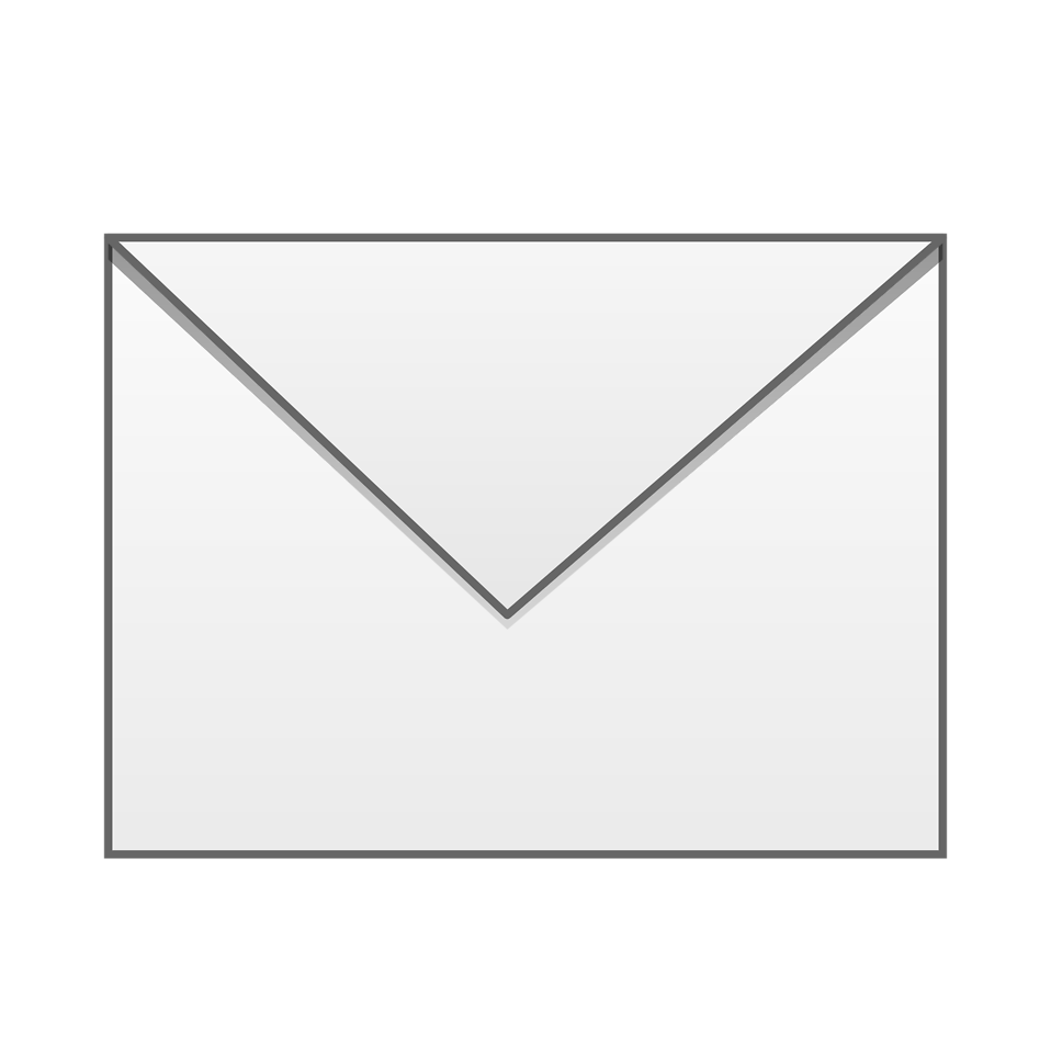 Mail clipart back envelope. Free stock photo illustration