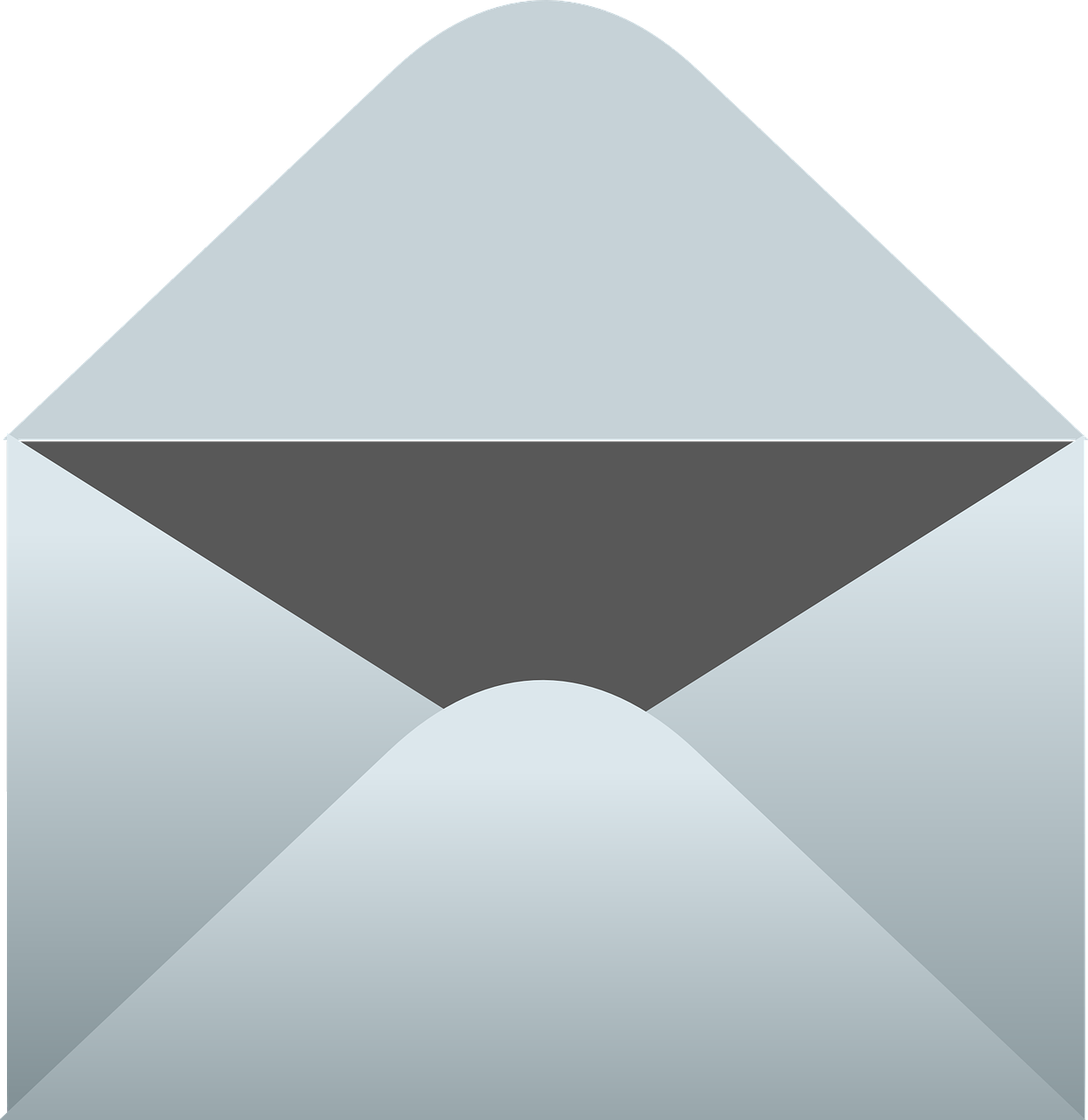 Envelope clipart evelope. Open mountain messenger