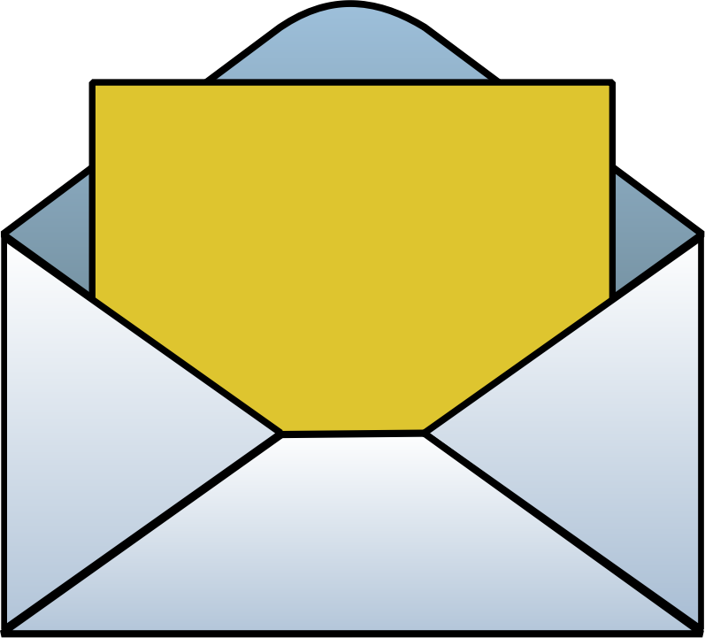 collection of letter. Envelope clipart format