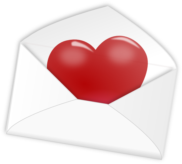 In clip art at. Envelope clipart heart