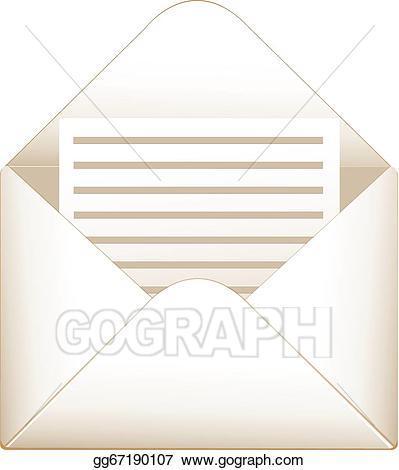 Envelope clipart illustration. Vector stock open