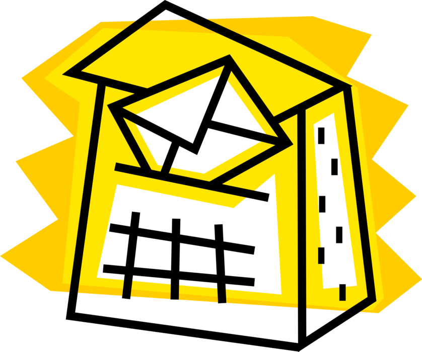 Mailbox clipart incoming mail. Letter box or with