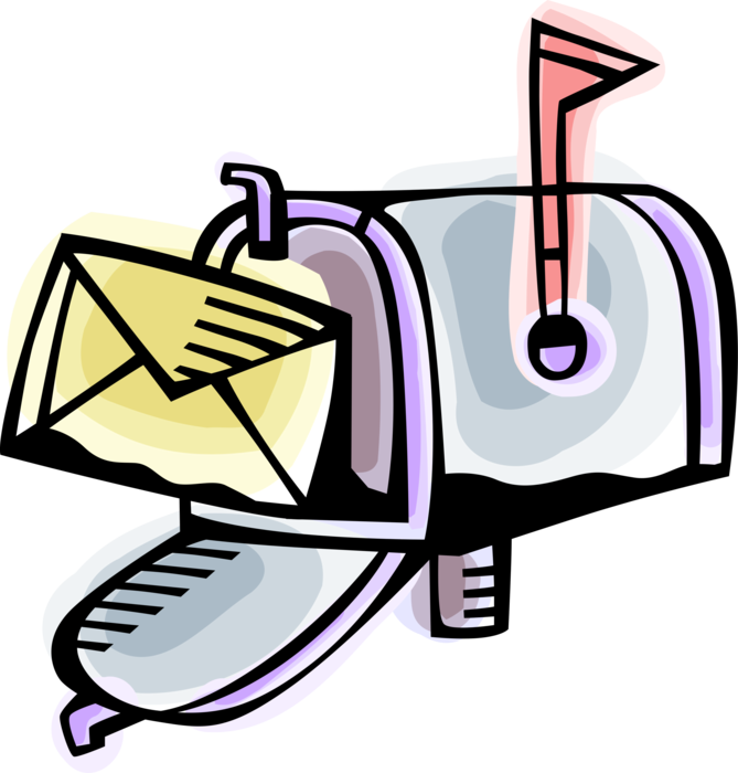 Letter box or with. Mailbox clipart incoming mail