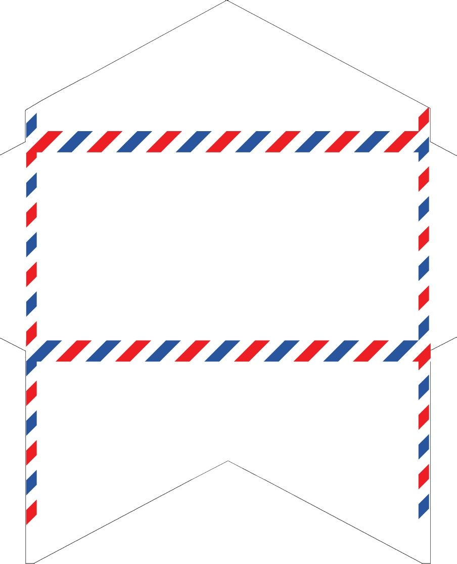 Old fashioned correspondence airmail. Envelope clipart international