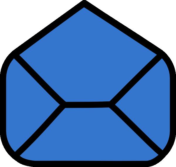 Envelope clipart large envelope. Blue open clip art