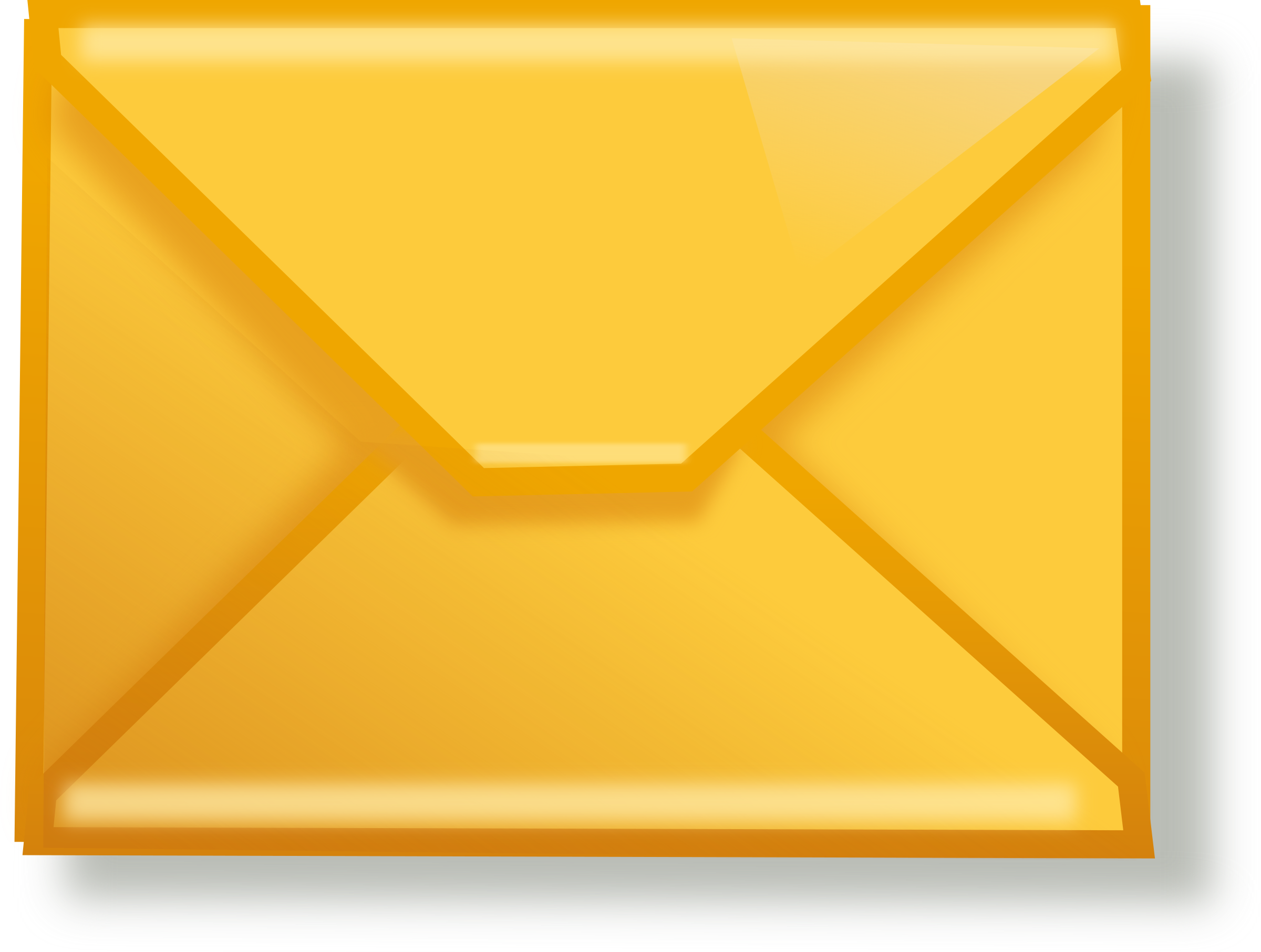 Yellow big image png. Mail clipart mail package