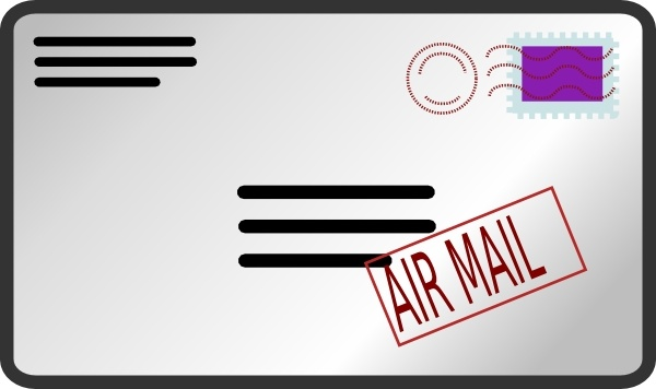 Air clip art free. Mail clipart opened envelope