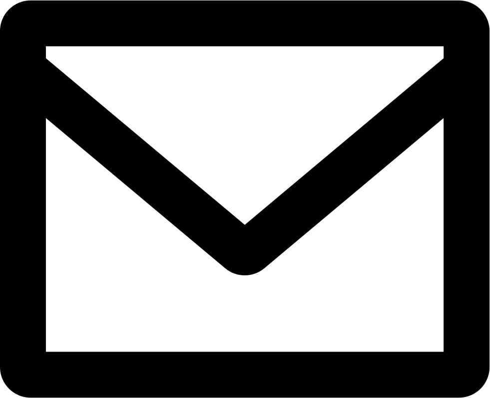 New email interface symbol. Mail clipart back envelope