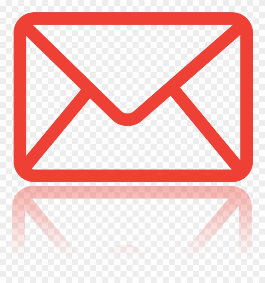 Envelope clipart mail symbol. Message red icon png