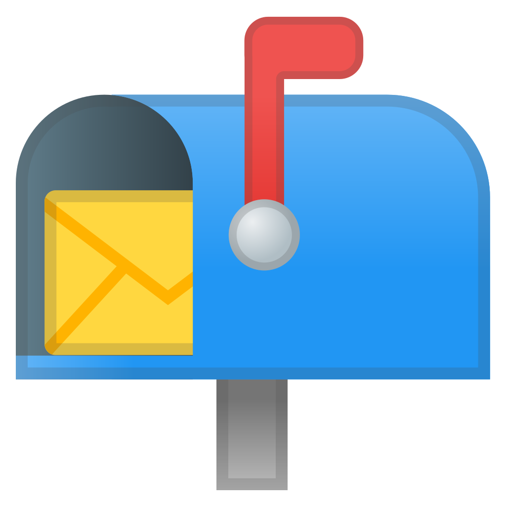 Open with raised flag. Mailbox clipart full mailbox