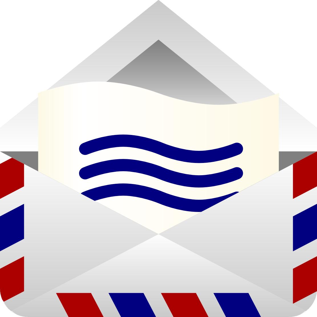 envelope clipart mailing letter