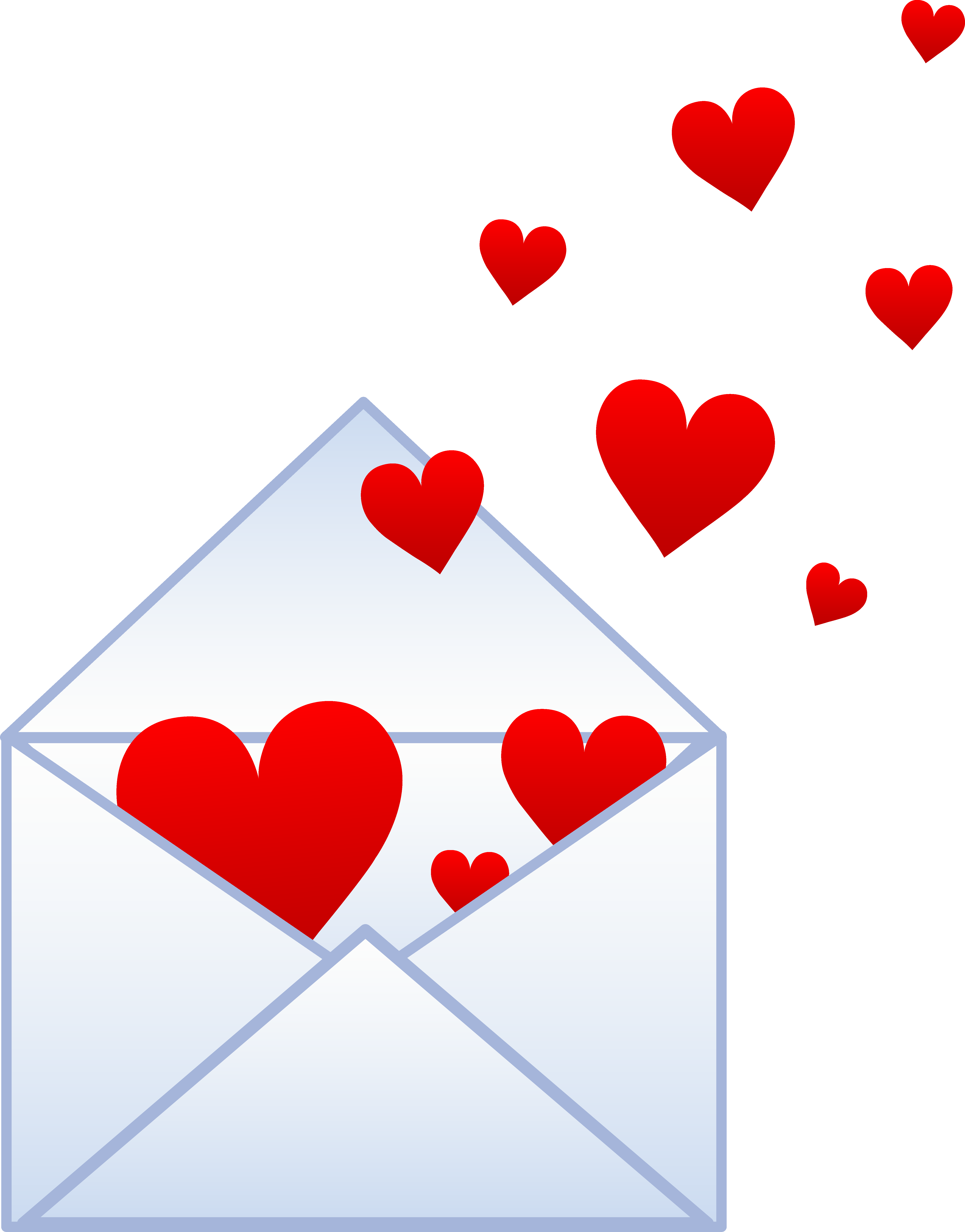 Envelope heart acur lunamedia. Valentine clipart note