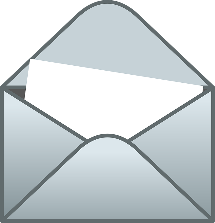 Envelope clipart open letter. In png clip art