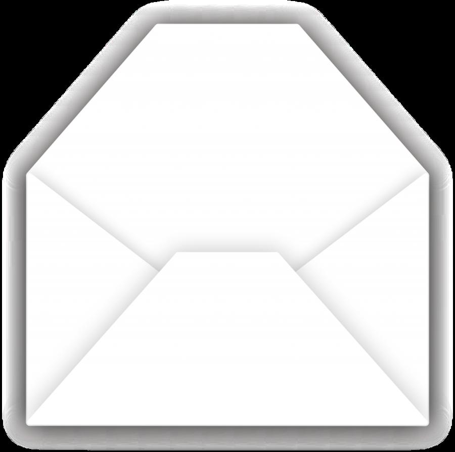 Envelope clipart opened envelope. Black triangle mail white