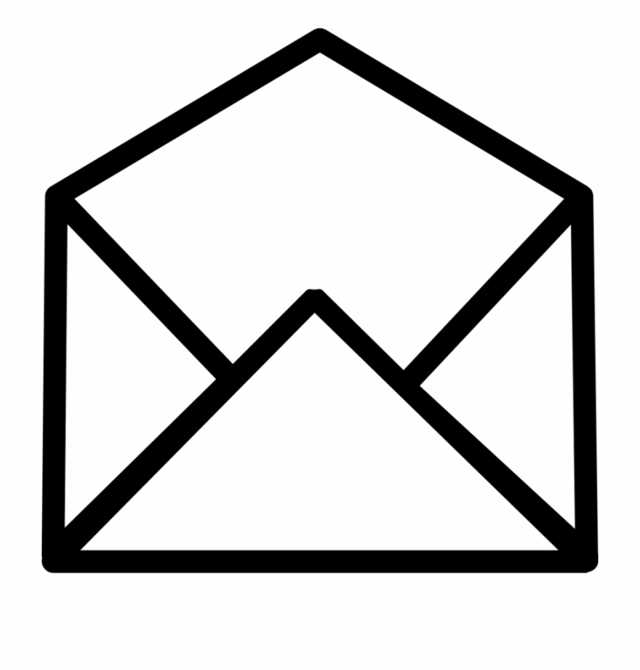 Open icon computer icons. Envelope clipart opened envelope