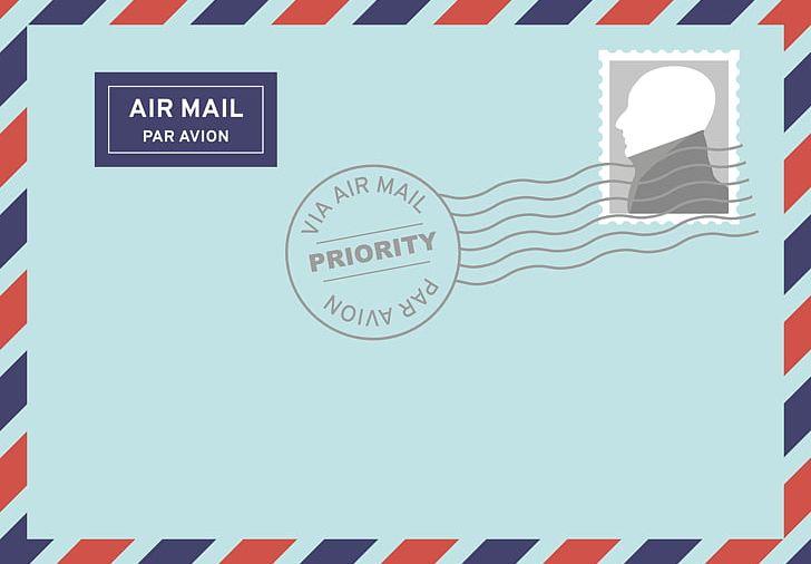 Mail png airmail blue. Envelope clipart postal letter