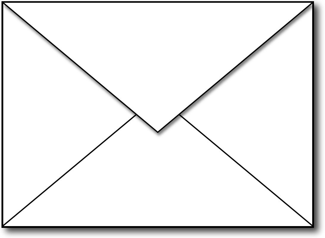 Free black and white. Envelope clipart rectangle object