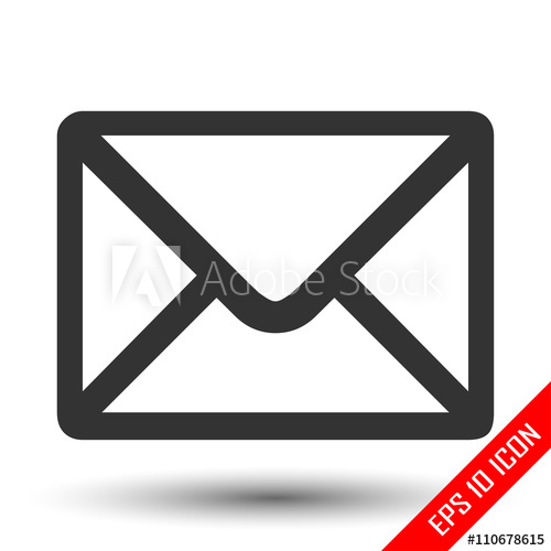 Envelope clipart rectangle object. Icon vector