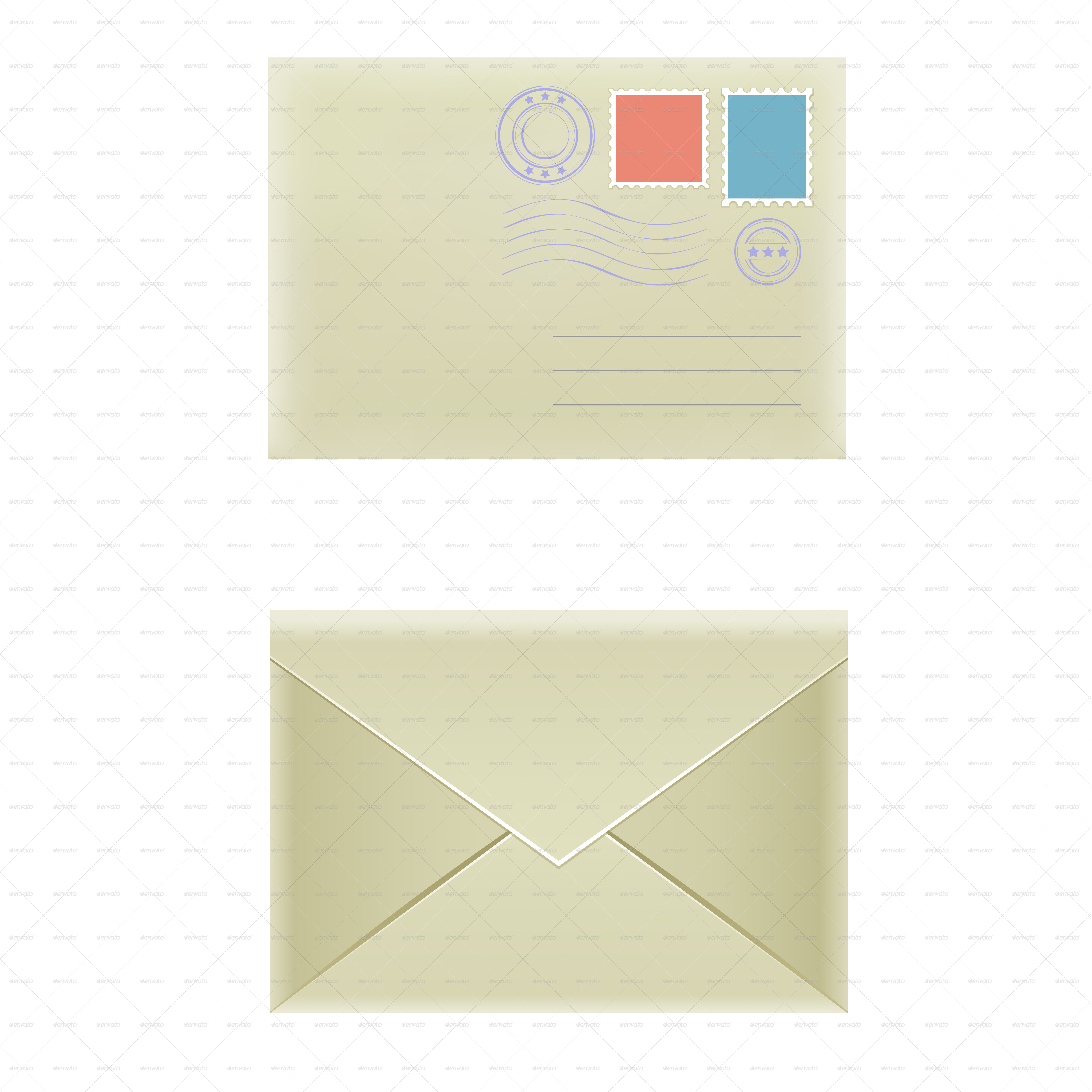Envelope clipart rectangle object. By romvo graphicriver