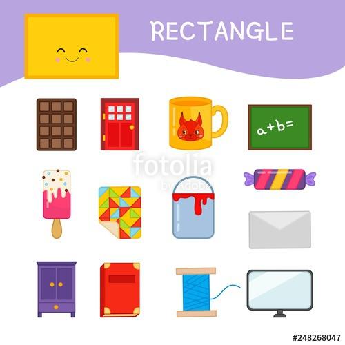 Materials for kids learning. Envelope clipart rectangular object