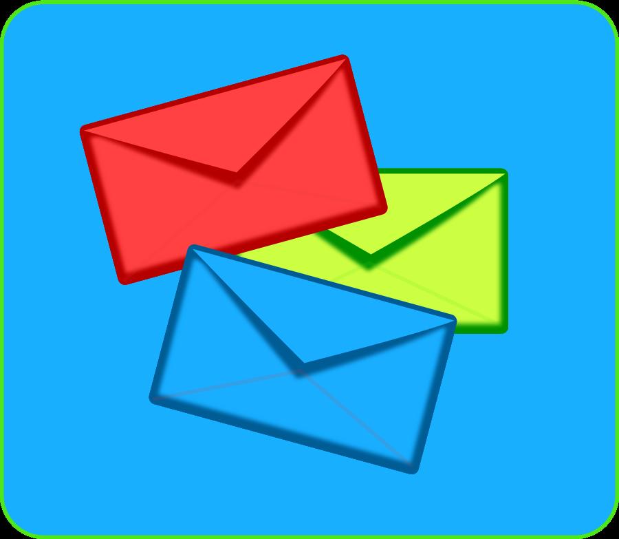envelope clipart scattered