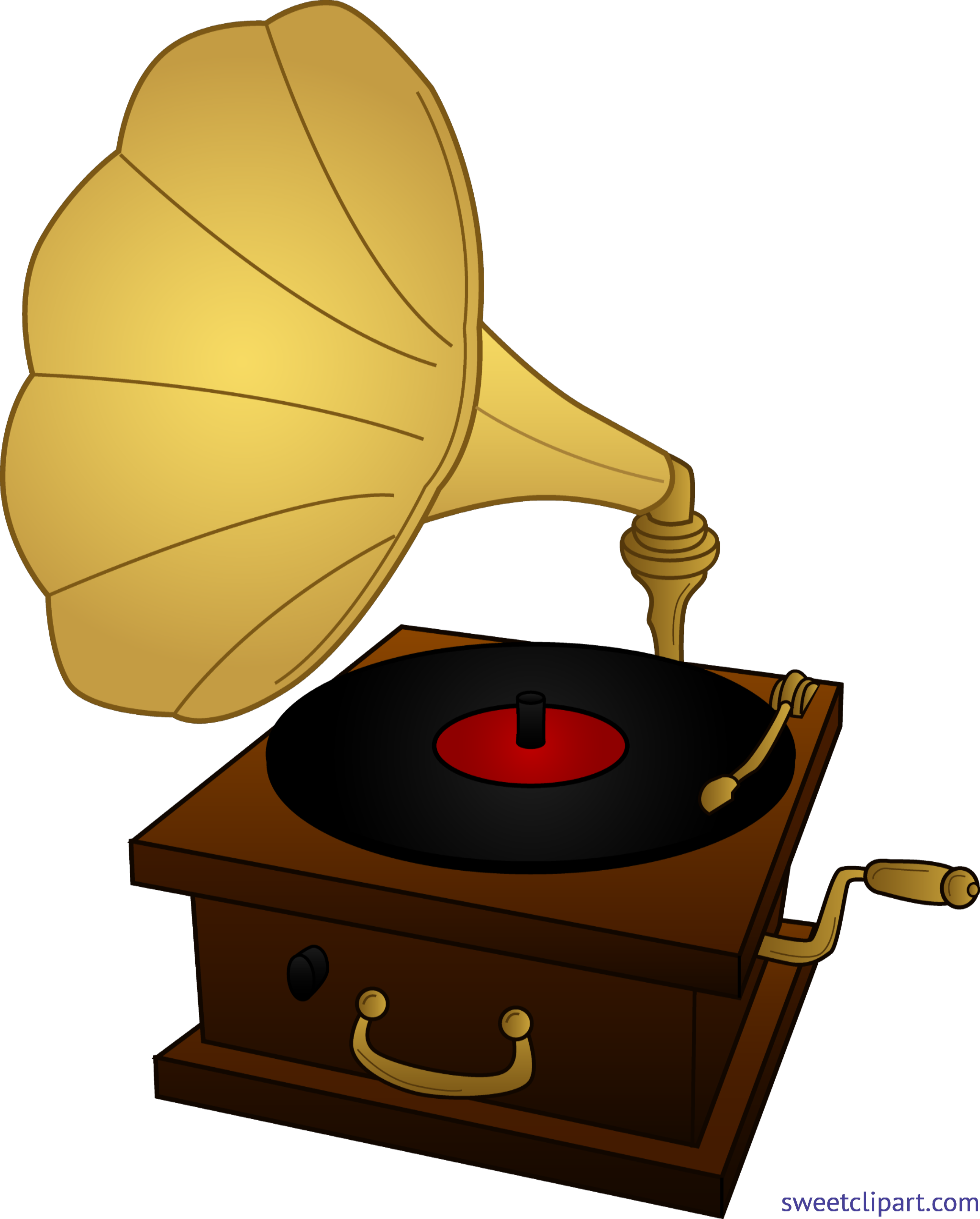 Record clipart pattern. Player gramophone clip art