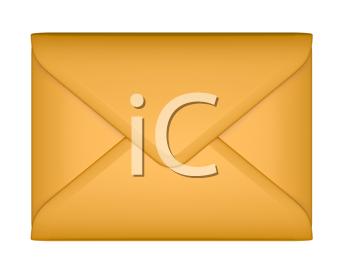 Envelope clipart sealed envelope. Royalty free image of