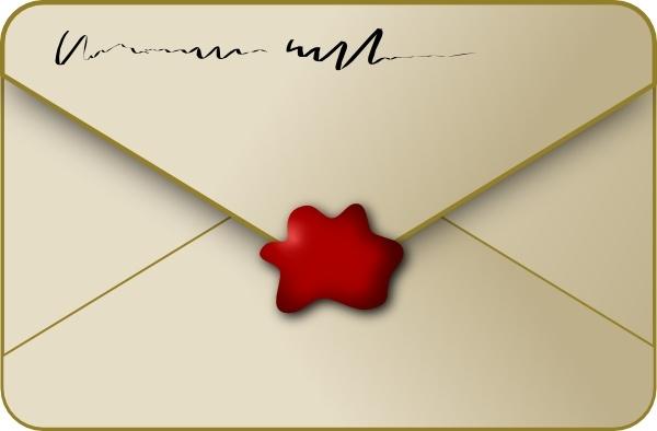 Clip art free vector. Envelope clipart sealed envelope