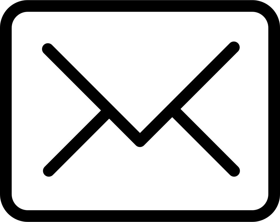 New email closed symbol. Mail clipart back envelope