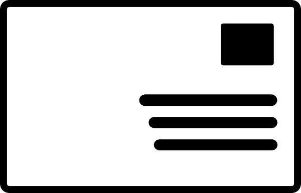 Envelope clipart stamp. Addressed symbol clip art