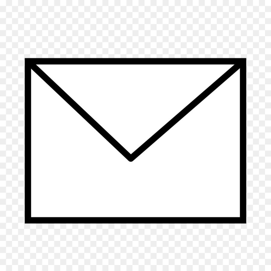 Black line triangle rectangle. Envelope clipart transparent background