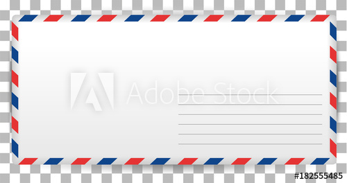 Blank template of santa. Envelope clipart written letter