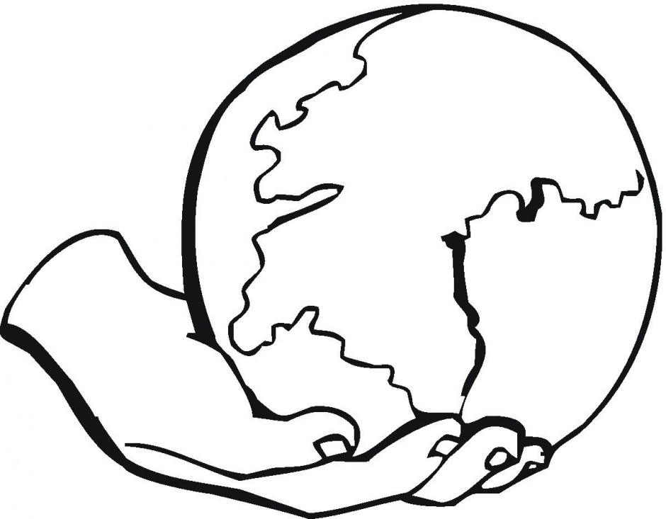Heaven clipart drawing earth. Environment black and white