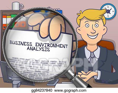 Analysis through magnifier . Environment clipart business environment