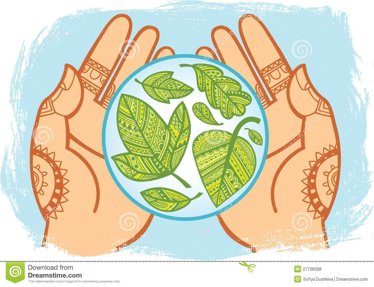 Taking of the portal. Environment clipart care