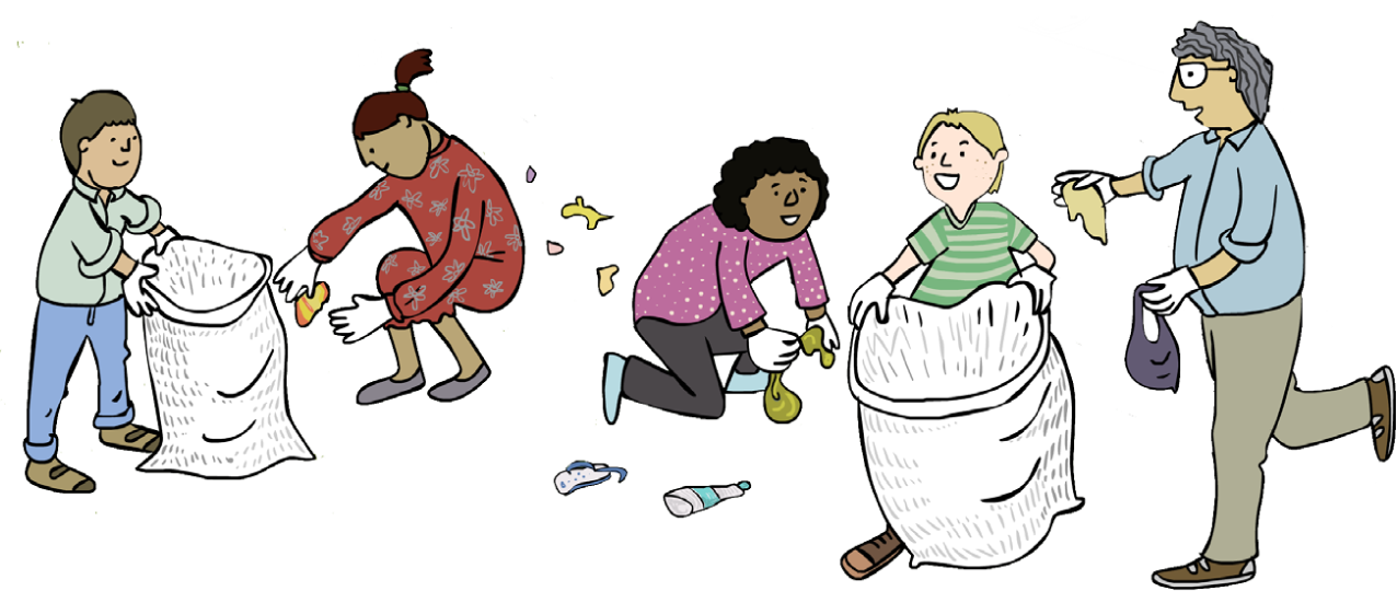 Litter up wasteless preparation. Environment clipart clean surroundings