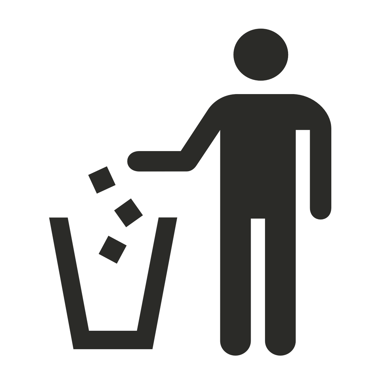 Pick the right trash. Environment clipart clean surroundings